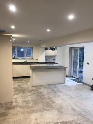 Kitchen extension by builders Leicester