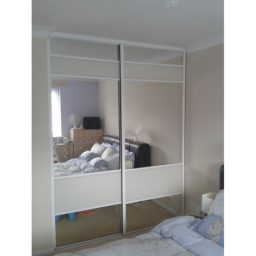 Tuscany Chrome/silver mirror with soft white bands