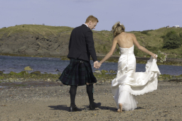 North Berwick beach wedding