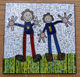 London School Mosaic:Squared Circle Mosaic Studio