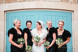Bridesmaids at Priory Cottages Wedding Yorkshire