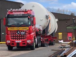 Pressure Vessel Transport Potteries Heavy Haulage