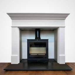 The Lincoln primed wood fireplace mantelpiece