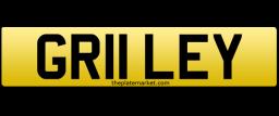 Riley personalised number plate