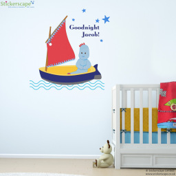 Personalised Goodnight Igglepiggle wall sticker