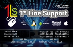 Jon Tucker - 1st Line Support - Business Card