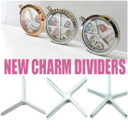Locket Charm Dividers for Floating Lockets