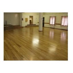 Village hall finished solid wood floating floor
