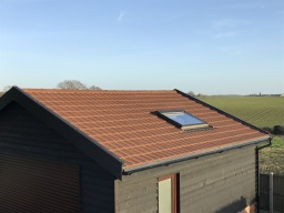 Lightweight Tiles on a garage roof.