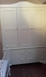 Hand made bedroom wardrobe example