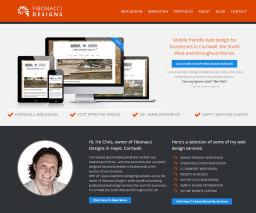Fibonacci Designs Website Design Screenshot