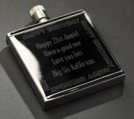 Happy Birthday Ss 2oz Hipflask