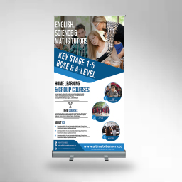 A big roller banner a very popular system