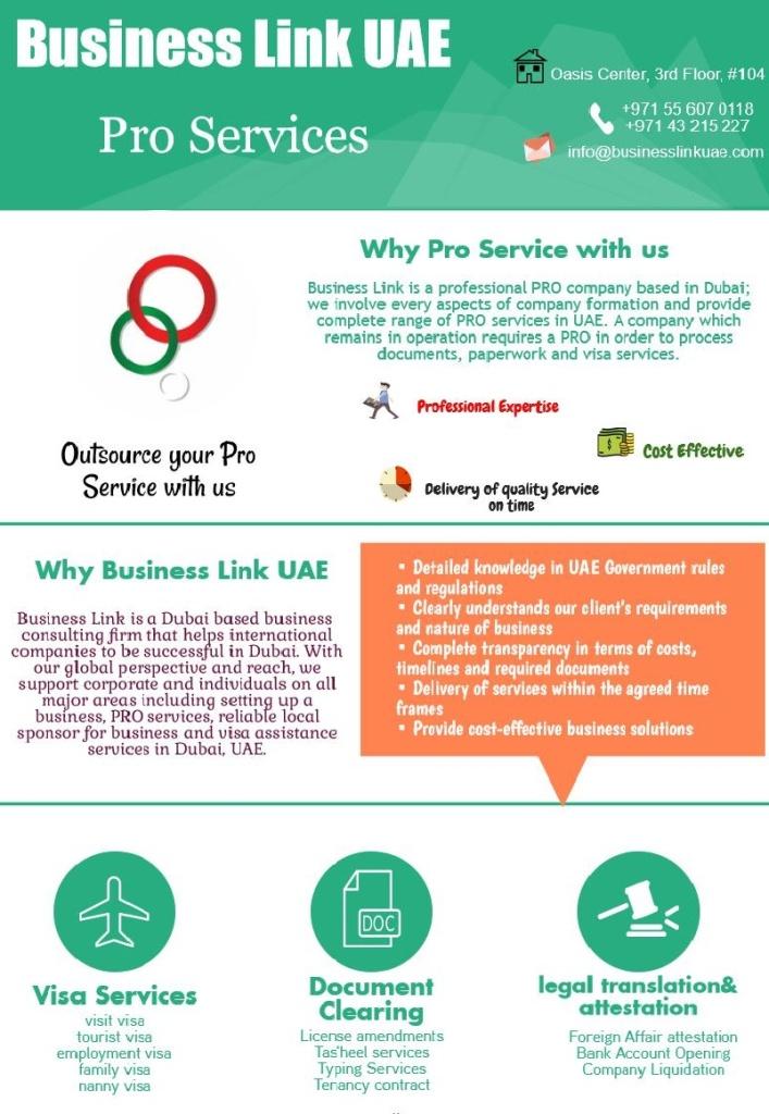 Business Link UAE Oasis Center, 3rd Floor, #104 Sheikh Zayed