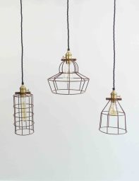 Simple Industrial Wire Lights | The Den & Now
