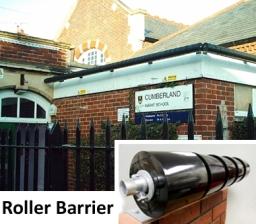 Rollerbarrier Protecting School Flatroof