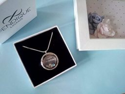Engraved Birthday Locket necklace
