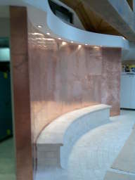 Copper Feature Wall by Essex Metal Roofing