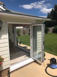 Bi-Fold doors all open (2 sets)