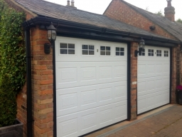Cartek white Insulated Sectional Garage Doors with windows