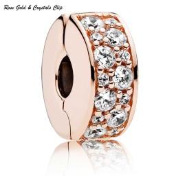 Rose Gold & Crystals Clip