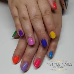 Multicoloured Bright Nails