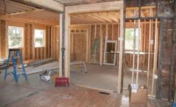 Garage conversion into kitchen extension