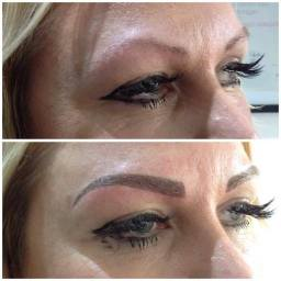 before and after semi permanent make-up eyebrows