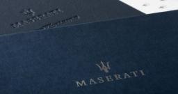 Maserati presentation packaging for GranTurismo book