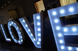4ft tall fairground style LOVE letters