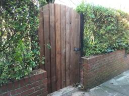 Bespoke Garden gate for wheelchair