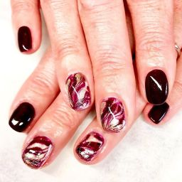 fabulous marble nails