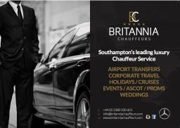 Britannia Chauffeurs service's leftlets.