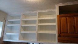 Bespoke kitchen shelves