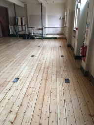 Sanding and sealing of floors