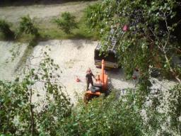 Looking down at Wood Chipper
