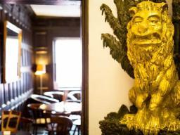 Tiger's Eye Restaurant, 17th Century Lion Feature