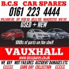 B C S  VAUXHALL + FORD  SPARES