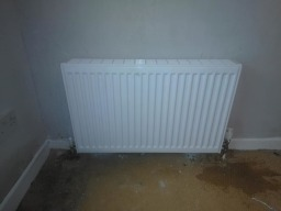 radiator installations 1st floor dwelling