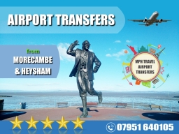 Taxi from Morecambe to Manchester Airport