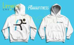 David White Running Fitness logo design / hoodie