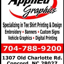 Applied Graphics 1307 Old Charlotte Rd Sw Concord Nc 28027