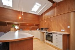 Kitchen fitted on a Dutch Barge