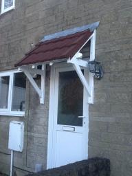 Lightweight Tiles Door Canopy.