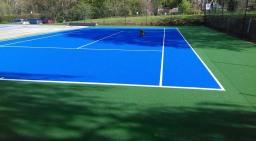 Artificial tennis court