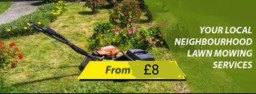 Lawns cut and Hedges cut and maintained.