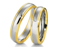 Classic Two Colour Wedding Bands
