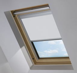 White keylite Sky Light Roof Blind