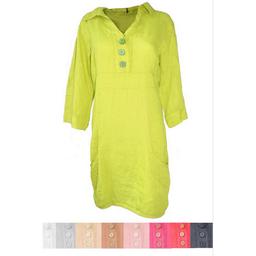 Button Linen Dress