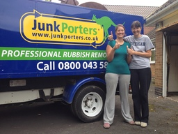 Junkporters customers house clearance Nottingham.